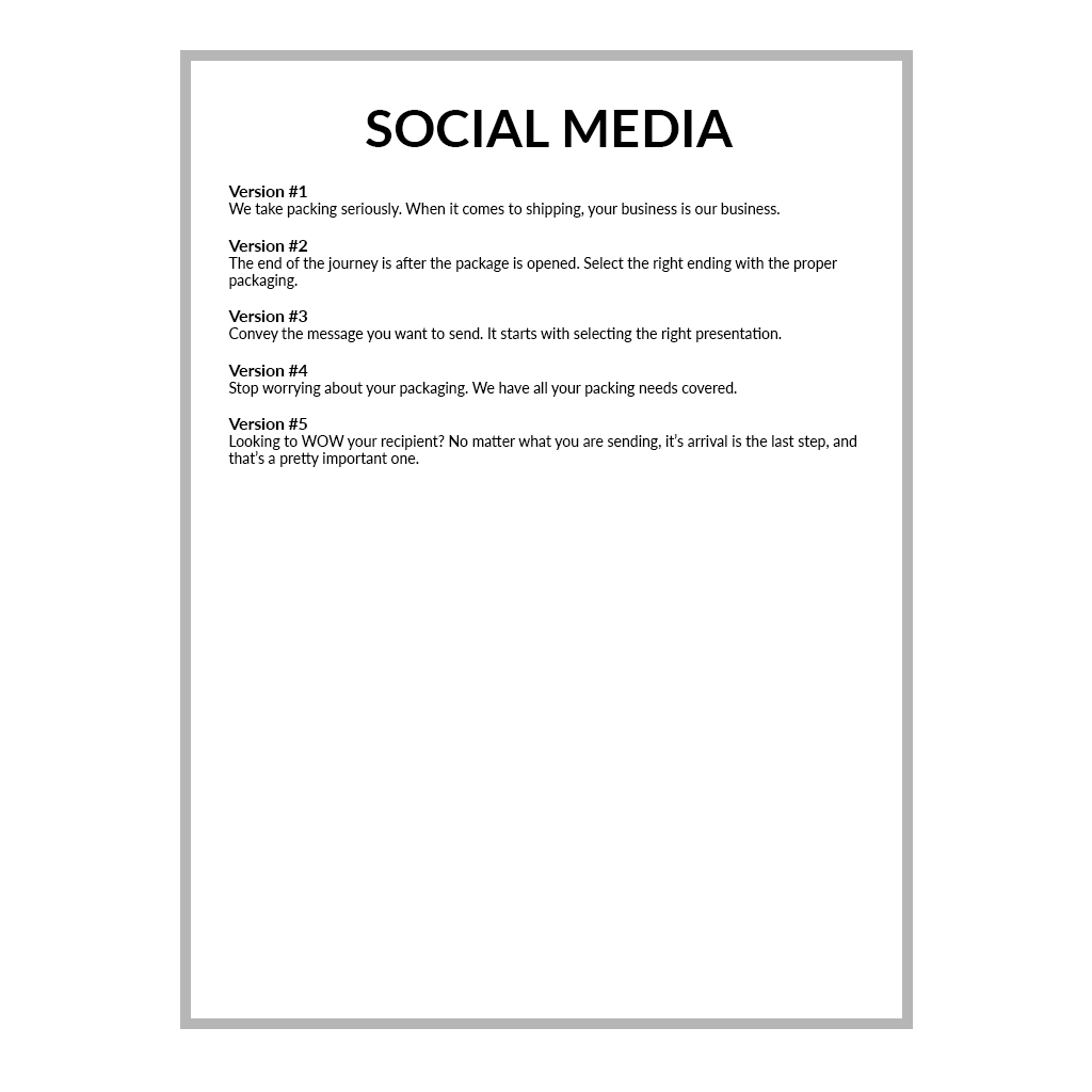 SOCIAL MEDIA Written by Annie for Monique