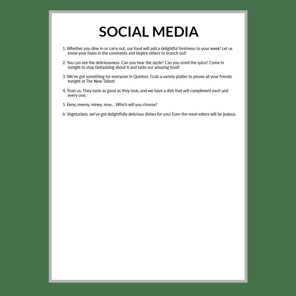 SOCIAL MEDIA Written by Carrie for the Social Bridge